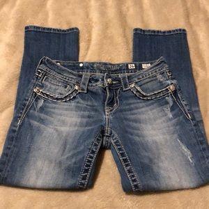 Miss Me Cropped Embellished Denim Jeans 26x23